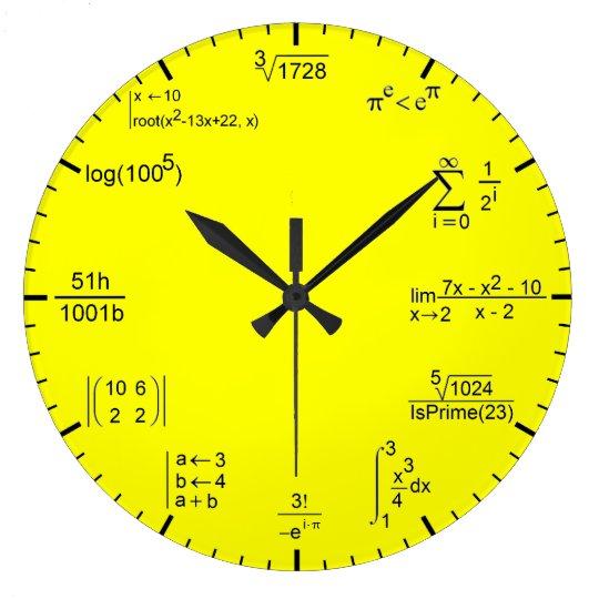 Reloj Redondo Grande Matematic Clock