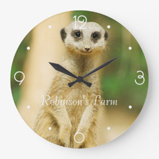 Reloj Redondo Grande Meerkat lindo