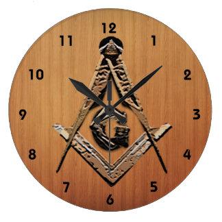 Reloj Redondo Grande Mentes masónicas (de oro)