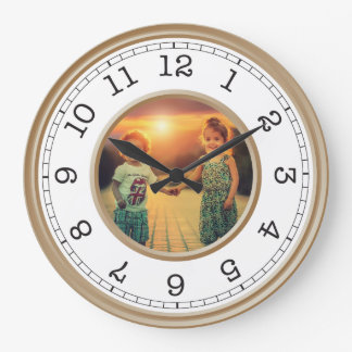 Reloj Redondo Grande Minimalist moderno de la foto de encargo