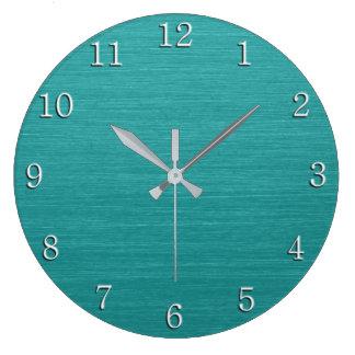 Reloj Redondo Grande Mirada cepillada kash001 del metal del trullo con