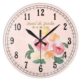 Reloj Redondo Grande Moda del país o moda de la cabaña