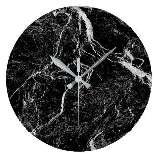 Reloj Redondo Grande Modelo abstracto blanco y negro