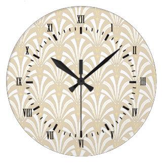Reloj Redondo Grande modelo blanco de las fans del art déco del vintage