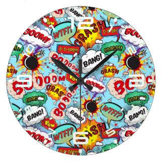 Reloj Redondo Grande Modelo cómico divertido
