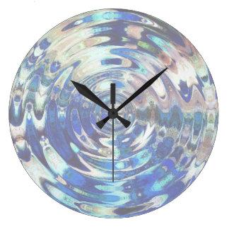 Reloj Redondo Grande Modelo de la ondulación del elemento del AGUA