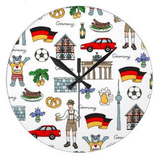 Reloj Redondo Grande Modelo de los símbolos de Alemania el  