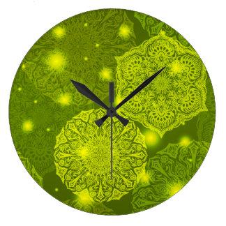Reloj Redondo Grande Modelo de lujo floral de la mandala