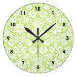 Reloj Redondo Grande Modelo de lujo verde del damasco