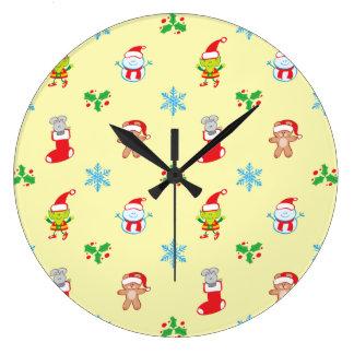 Reloj Redondo Grande Modelo del navidad del ratón, del muñeco de nieve,