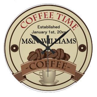 Reloj Redondo Grande Modifique su logotipo conocido del tiempo para