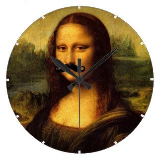 Reloj Redondo Grande Mona Lisa con el bigote