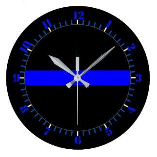 Reloj Redondo Grande Monumento simbólico fino de Blue Line en a