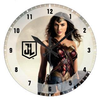 Reloj Redondo Grande Mujer Maravilla de la liga de justicia el | en