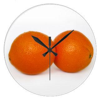 Reloj Redondo Grande Naranja con descensos del agua