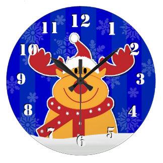 Reloj Redondo Grande Navidad lindo y de la diversión