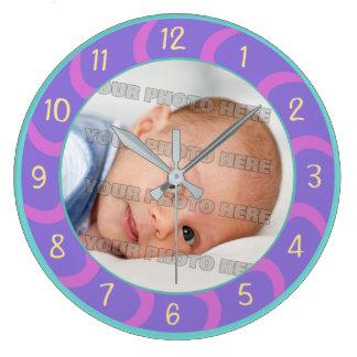 Reloj Redondo Grande Niños y personalizado del bebé