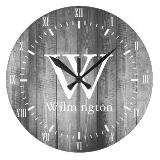 Reloj Redondo Grande Nombre blanco de los números romanos de los