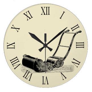 Reloj Redondo Grande Números romanos C del cortacésped del ejemplo del