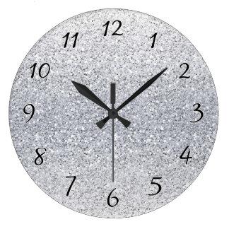 Reloj Redondo Grande Ombre de plata reluciente