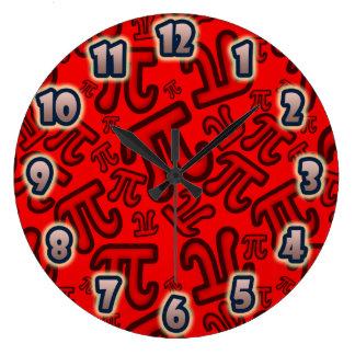 Reloj Redondo Grande ORIGINAL Crazy Pi Numbers - Red CLOCK