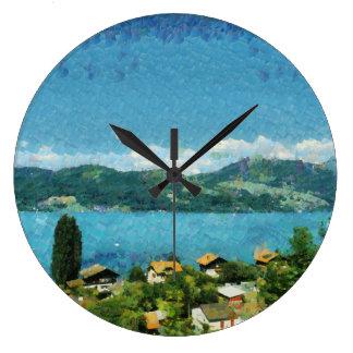 Reloj Redondo Grande Orilla del lago