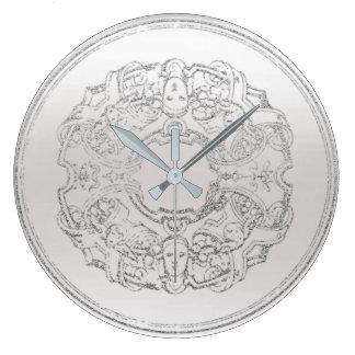 Reloj Redondo Grande Ornamento italiano S gris de Manieristic del