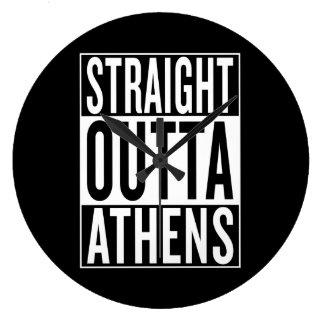 Reloj Redondo Grande outta recto Atenas