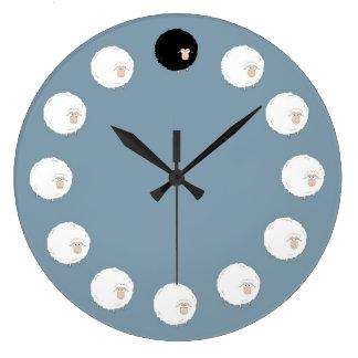 Reloj Redondo Grande Ovejas negras