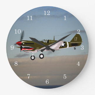 Reloj Redondo Grande P40 Warhawk Túnez 1943