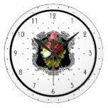 Reloj Redondo Grande País francés floral