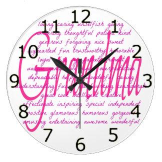 Reloj Redondo Grande Palabras para la abuela