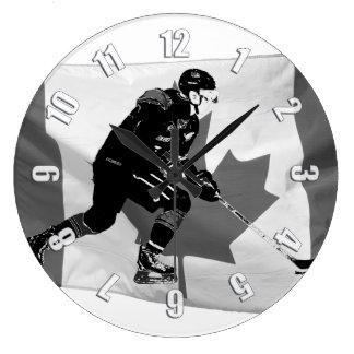 Reloj Redondo Grande Palillo que maneja el jugador del hockey sobre