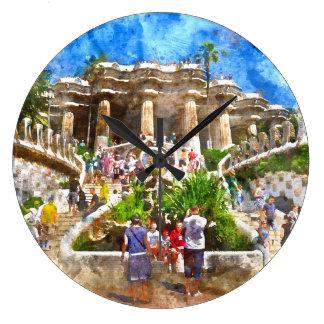 Reloj Redondo Grande Parc Guell en Barcelona España