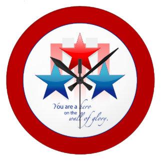 Reloj Redondo Grande Pared patriótica del héroe de la gloria, gracias