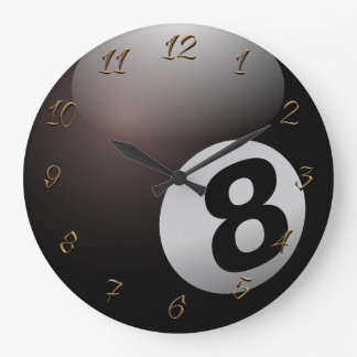 Reloj Redondo Grande Pasillo de billar