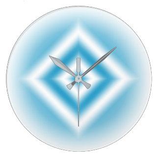 Reloj Redondo Grande pendiente azul del diamante del Personalizar-cielo
