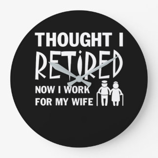 Reloj Redondo Grande Pensado era marido del retiro que trabajo a la