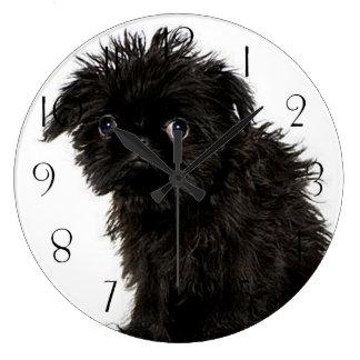 Reloj Redondo Grande Perrito del Affenpinscher