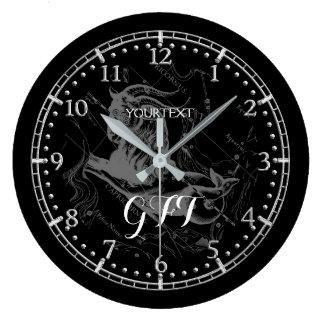 Reloj Redondo Grande Personalice el zodiaco de la constelación del