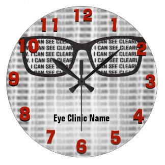 Reloj Redondo Grande Personalizado de la clínica del Opthamology
