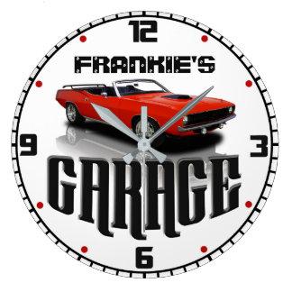 Reloj Redondo Grande Personalizó SU garaje CONOCIDO del coche de