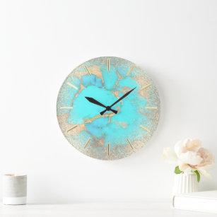 Reloj Redondo Grande piedra turquesa