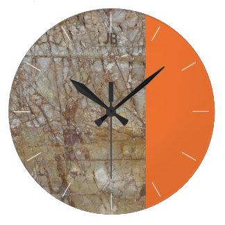 Reloj Redondo Grande Piedra y tono