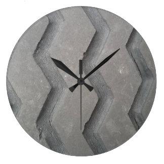 Reloj Redondo Grande Pisada del neumático