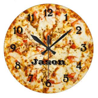 Reloj Redondo Grande Pizza el el tiempo listo para ir