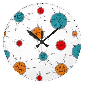 Reloj Redondo Grande Planetas atómicos de la era