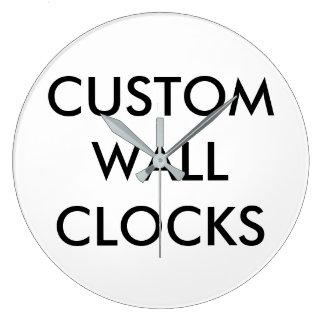 Reloj Redondo Grande Plantilla personalizada personalizado del espacio