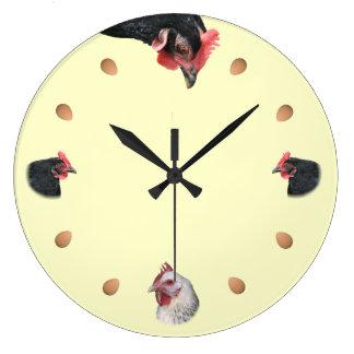 Reloj Redondo Grande Pollo y huevo