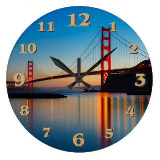 Reloj Redondo Grande Puente Golden Gate